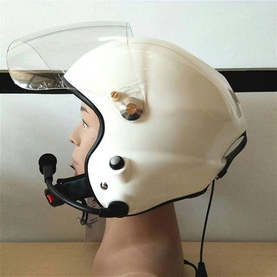 Global unique paramotor helmet with radio for parachute and pilot